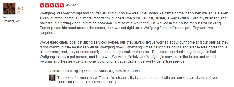 The Woof Gang - Yelp Review 1