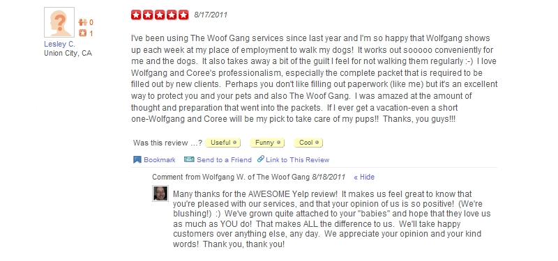 The Woof Gang - Yelp Review 13