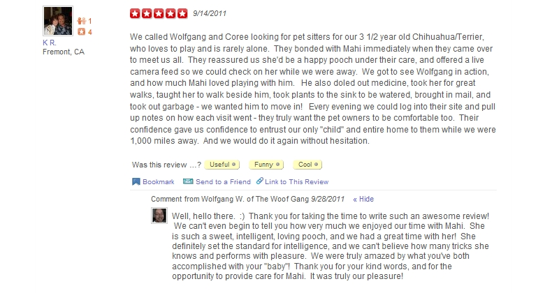 The Woof Gang - Yelp Review 15