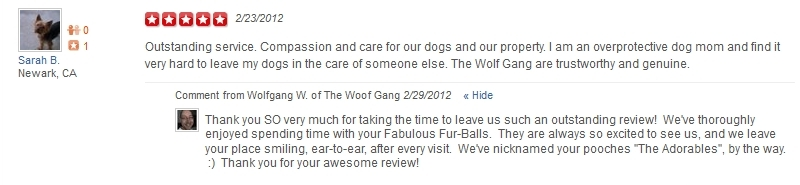 The Woof Gang - Yelp Review 19