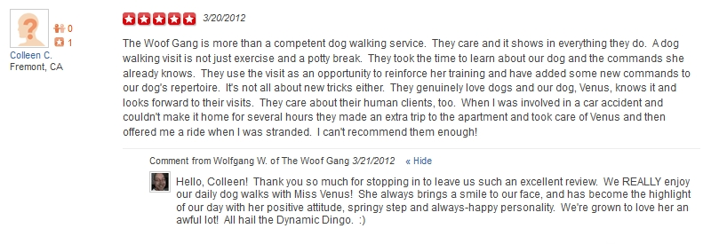 The Woof Gang - Yelp Review 22