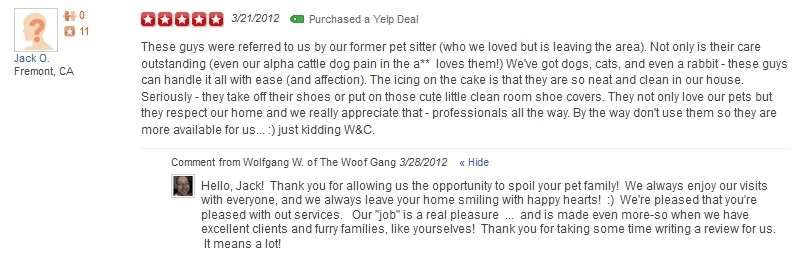 The Woof Gang - Yelp Review 23