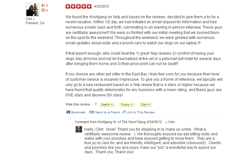 The Woof Gang - Yelp Review 26
