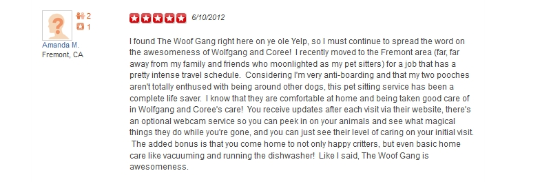 The Woof Gang - Yelp Review 29