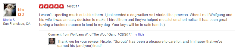 The Woof Gang - Yelp Review 3