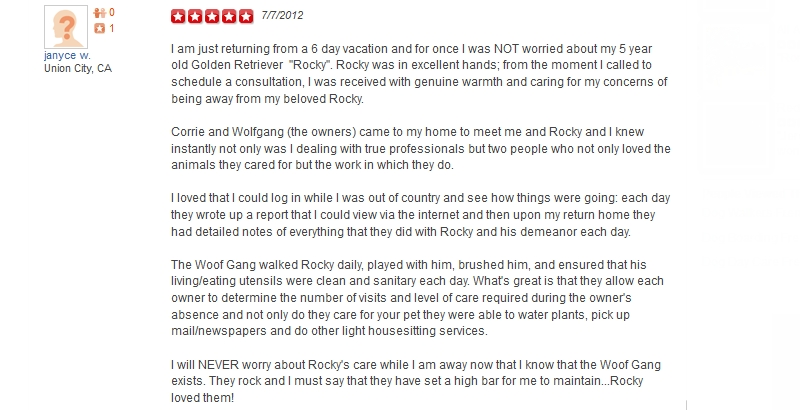 The Woof Gang - Yelp Review 33
