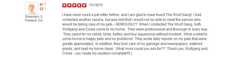 The Woof Gang - Yelp Review 35