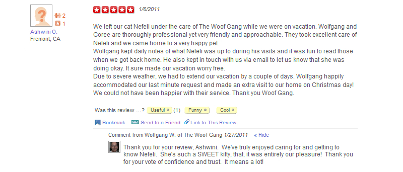 The Woof Gang - Yelp Review 4
