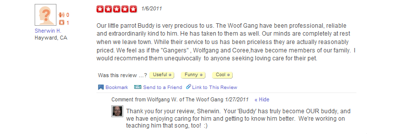The Woof Gang - Yelp Review 5