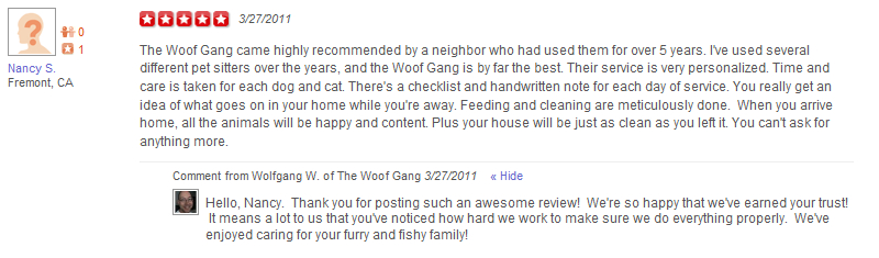 The Woof Gang - Yelp Review 8