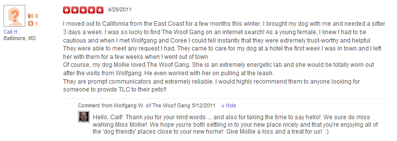 The Woof Gang - Yelp Review 9